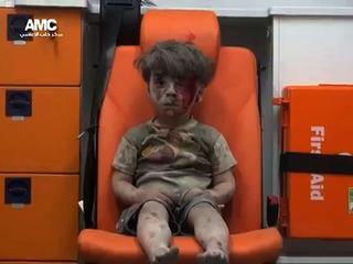 Omran Dagneesh werd het symbool van de Syrische burgerslachtoffers