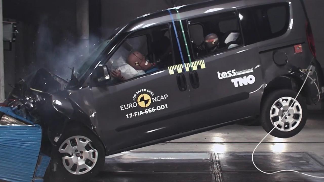 Crashtestvideo: de vernieuwde Fiat Doblò scoort matig bij botsproef