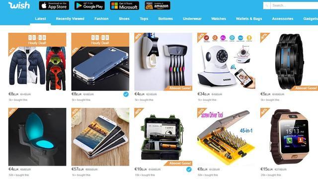 'Webwinkel-app Wish krijgt investering van 500 miljoen dollar'