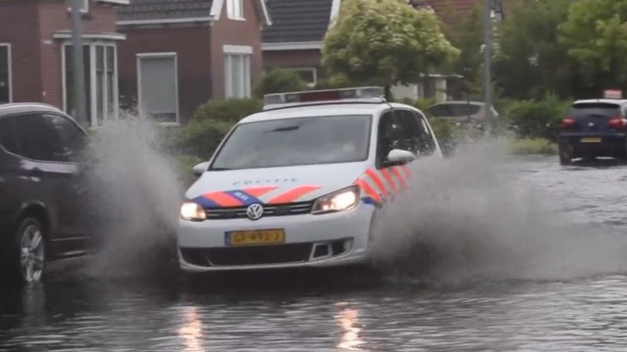 Regen zorgt voor wateroverlast in Brabant en Groningen