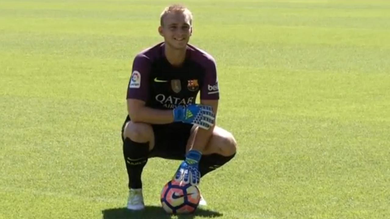 Jasper Cillessen officieel gepresenteerd bij FC Barcelona
