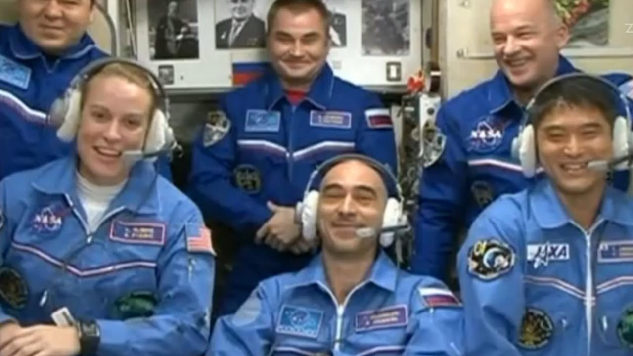 Nieuwe bemanningsleden komen aan op ruimtestation ISS