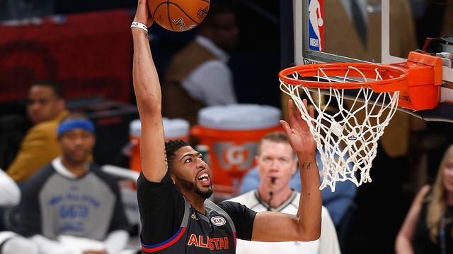 West verslaat East dankzij puntenrecord Davis in All Star-wedstrijd NBA