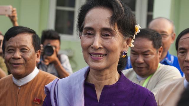 Feitelijk leider Myanmar Suu Kyi wil etnische minderheden plaats geven