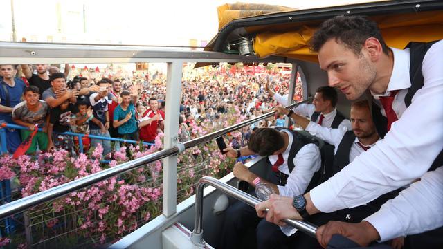 Albanese ploeg ondanks uitschakeling groots onthaald in Tirana