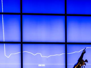 AEX-index sluit 0,8 procent in de plus op 455,82 punten