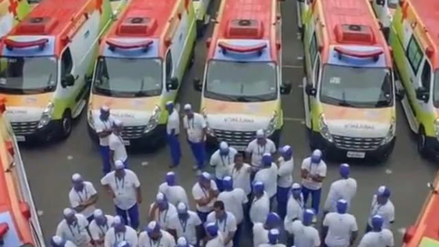 Rampoefening voor hulpdiensten Rio de Janeiro