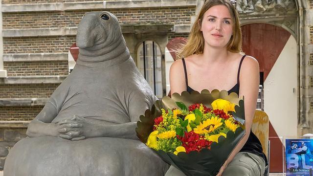 Publieksprijs Beelden in Leiden voor aaibaar 'mormel'