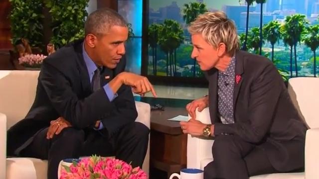 Barack Obama bezoekt talkshow Ellen DeGeneres