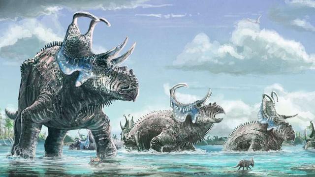 Dinosaurus ontdekt met haken op nekschild