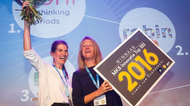 Maker van milieuvriendelijk maandverband wint mkb-innovatieprijs