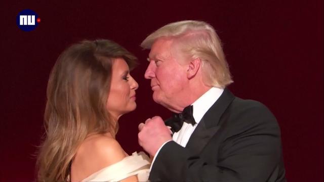 Trump danst op Frank Sinatra's 'My Way' tijdens inauguratiebal