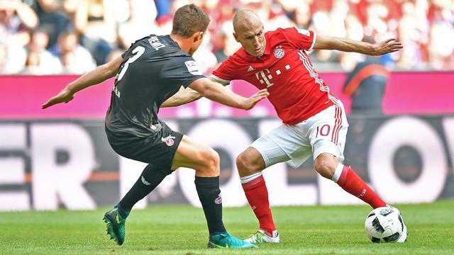 Bayern lijdt eerste puntenverlies bij basisrentree Robben