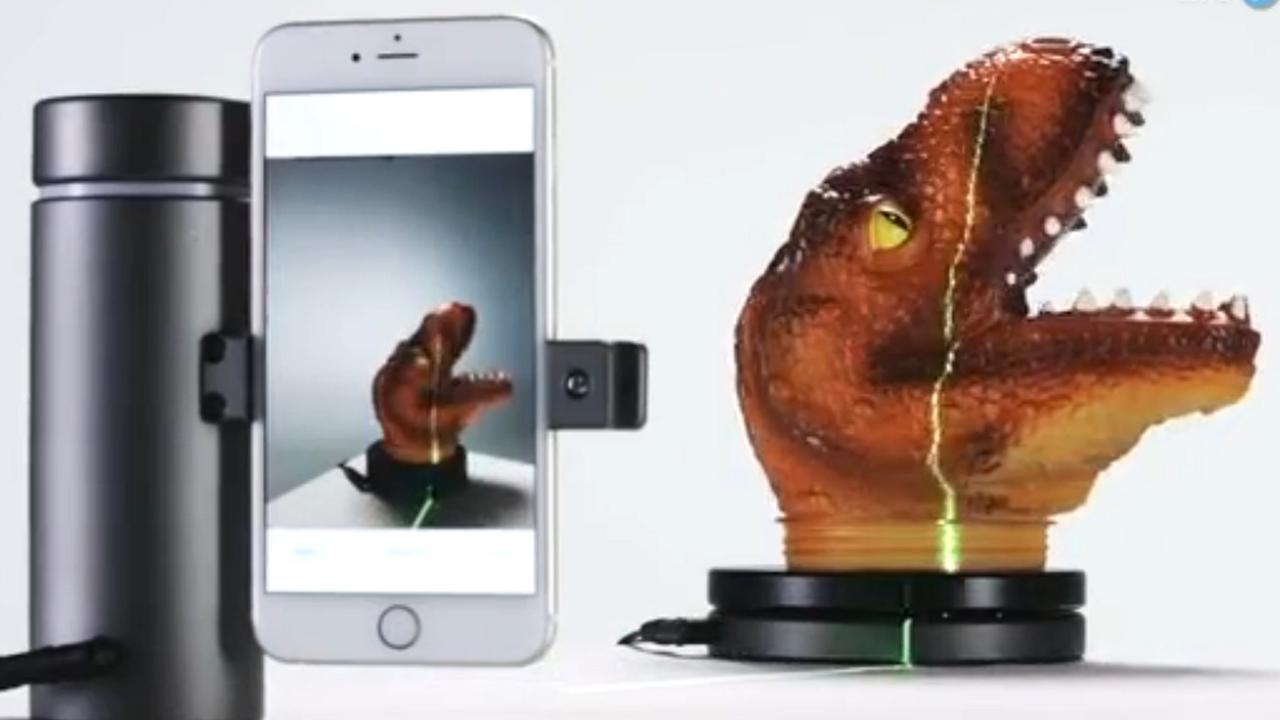 3d-scanner werkt met smartphone