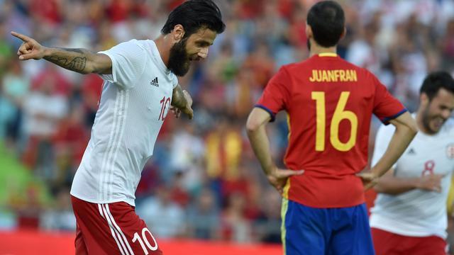 Spanje blameert zich tegen Georgië in uitzwaaiduel voor EK