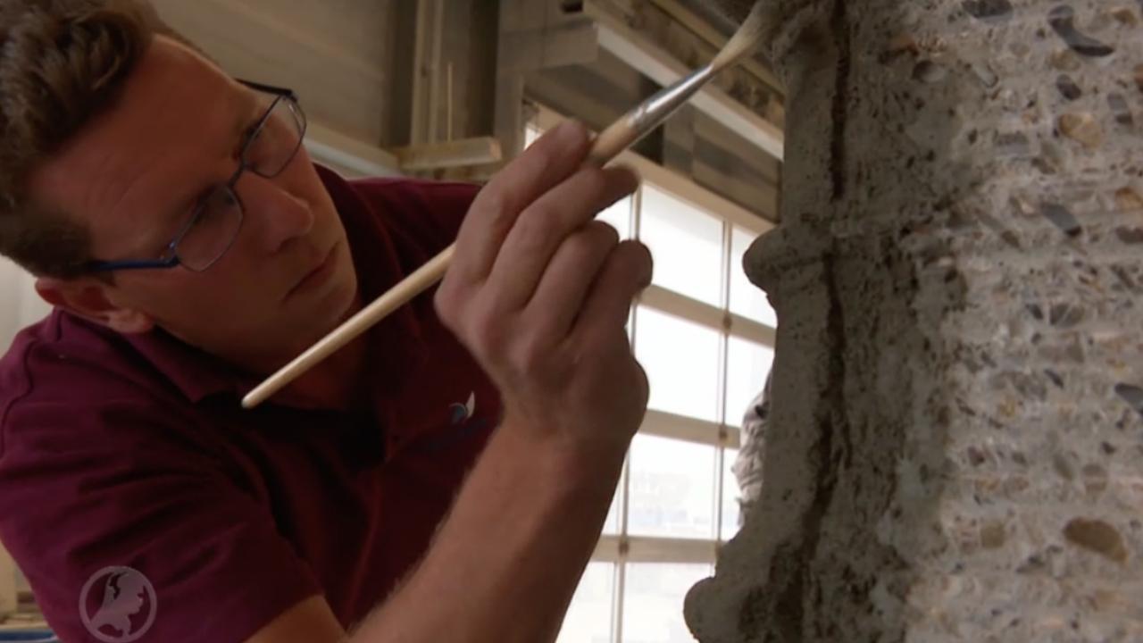 Bouwbedrijf restaureert Romeinse fontein