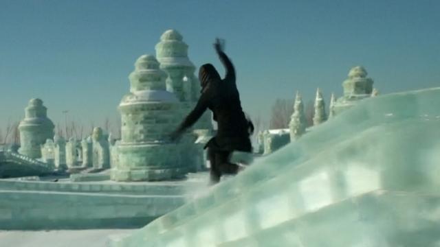 Chinees ijsfestival paradijs voor Duitse freerunner