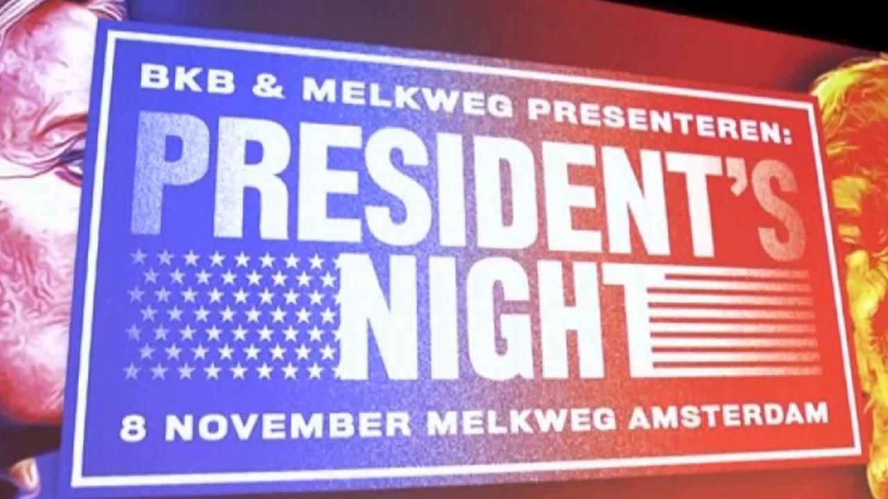 Deelnemers Election Night in Melkweg vol ongeloof