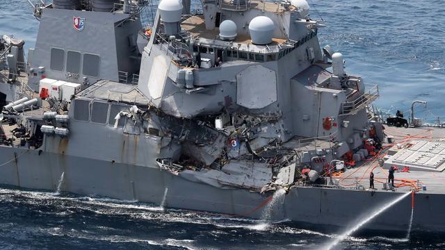 Lichamen van bemanningsleden Amerikaans marineschip gevonden