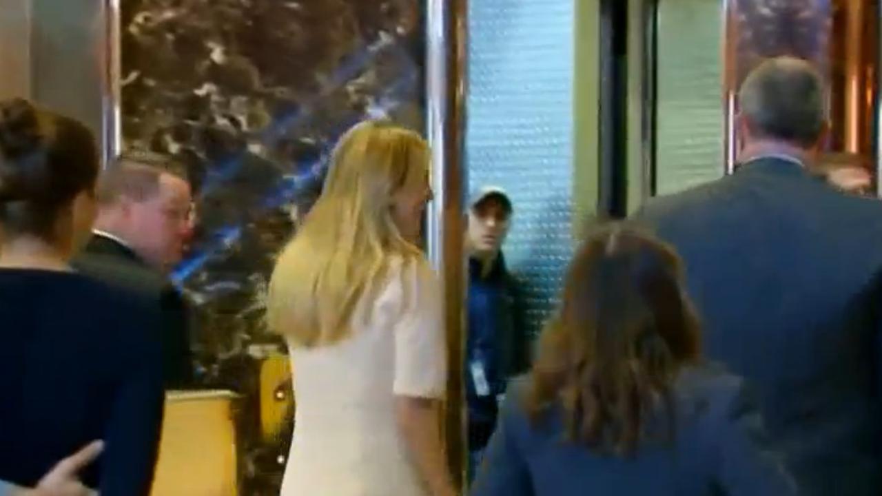 Kinderen Trump komen aan bij Trump Tower