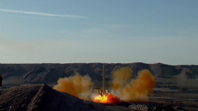 Iran lanceert opnieuw ballistische raketten