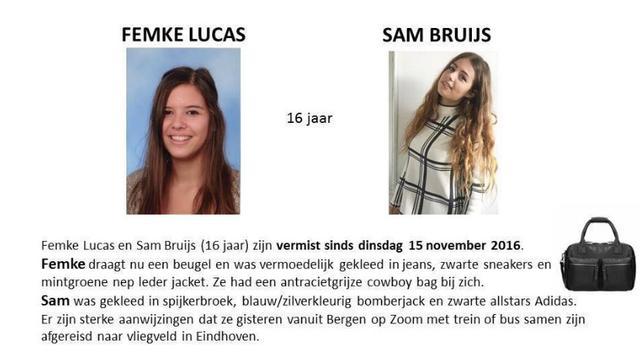 Twee Bergse meisjes (16) sinds dinsdag vermist