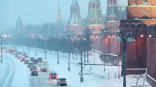 Extreme sneeuwval legt Moskou plat