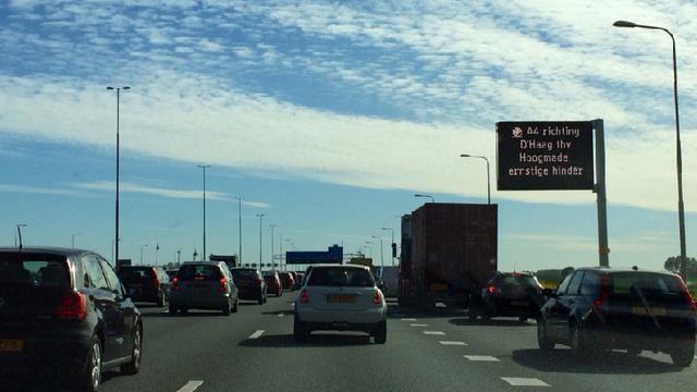 N44 richting Den Haag en A4 richting Rotterdam tijdelijk afgesloten