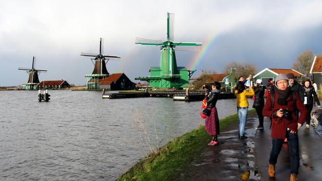 Zaanse schans populairst bij buitenlandse toeristen