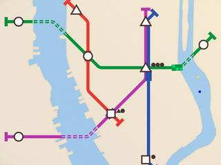 Met stijlvol leuke game Mini Metro