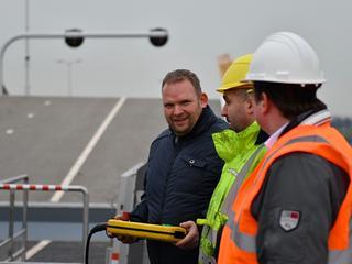 De energieneutrale brug werd in december vorig jaar al in gebruik genomen