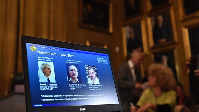 Nobelprijs voor de Natuurkunde gaat naar drie Britten