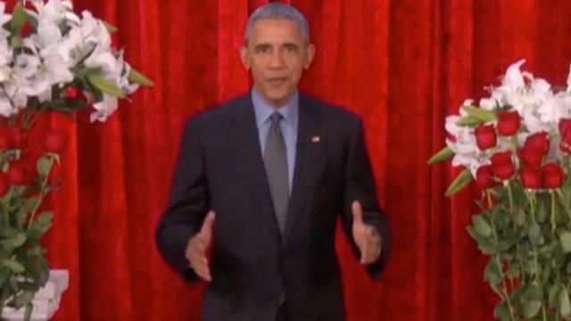 Barack Obama heeft romantische boodschap voor zijn vrouw