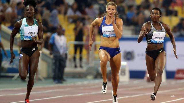 Schippers moet Bowie voor zich dulden op 100 meter in Doha