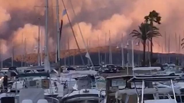 Verwoestende bosbranden aan de Franse Côte d'Azur