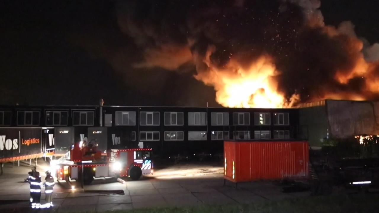 Zeer grote brand in Breukelen