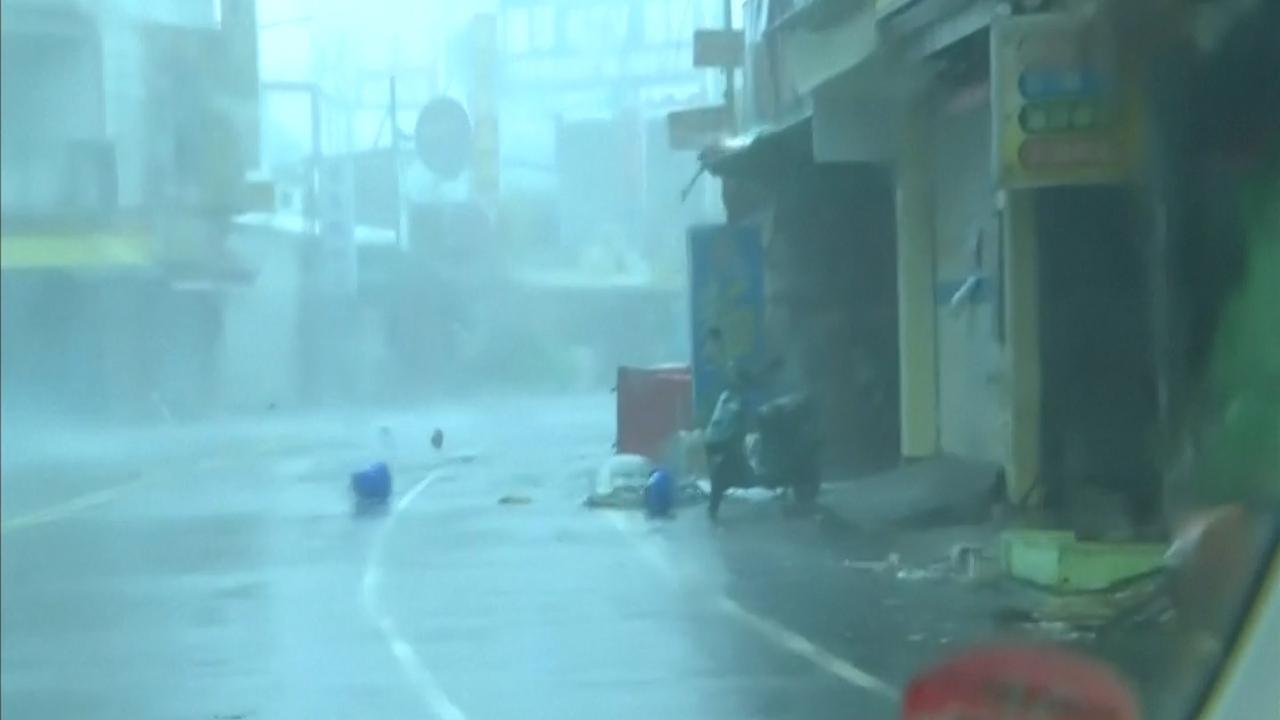 Tyfoon Meranti raast over Taiwan