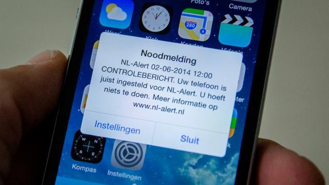 Helft Nederlanders ontving controlebericht NL-Alert
