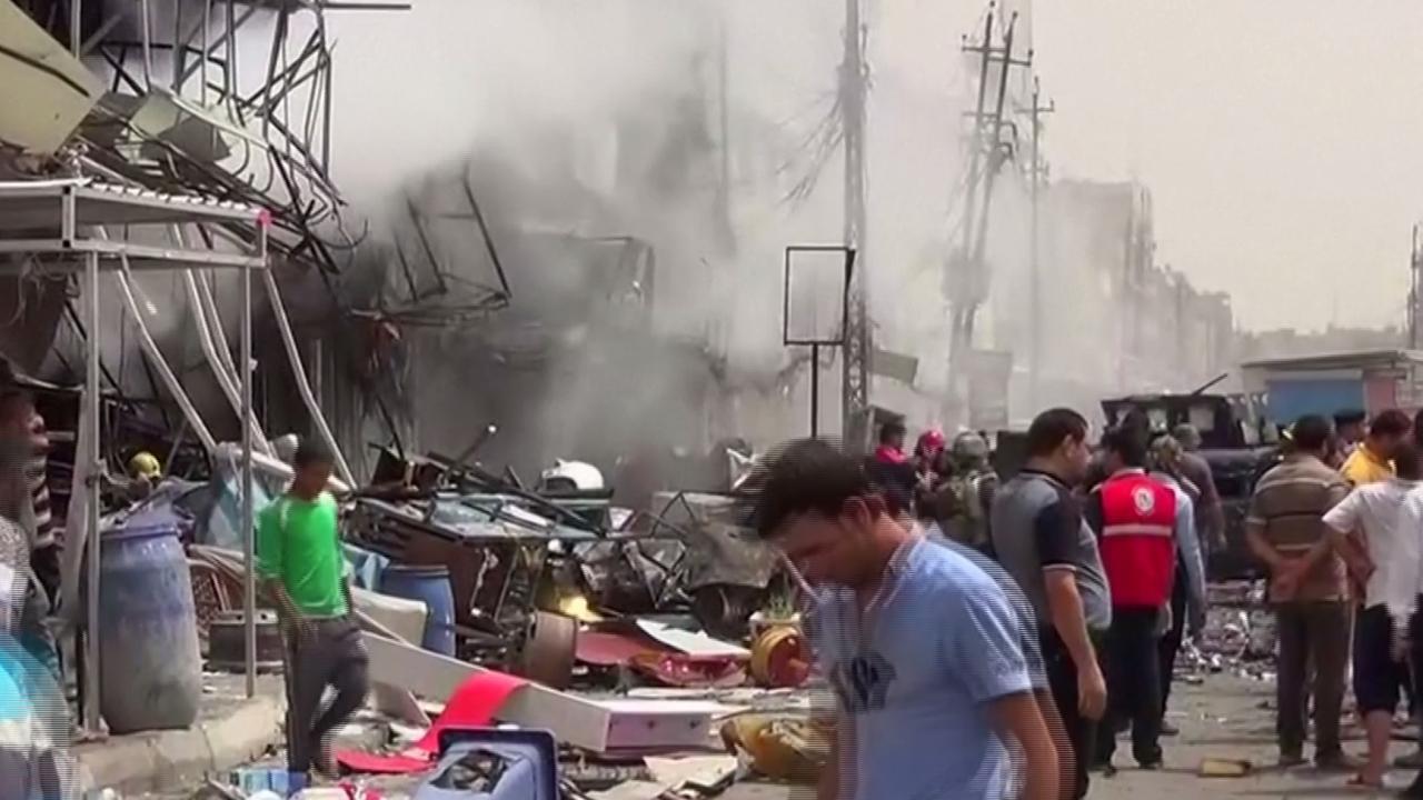 Doden en gewonden door bommen in Bagdad