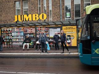 Opvallende reclamestunt van de Jumbo