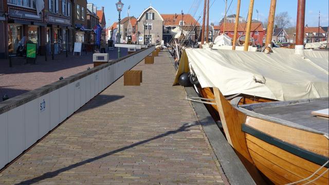 Unieke waterkering wordt getest in Spakenburg