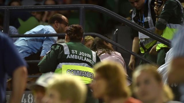 Toeschouwer valt van tribune tijdens Australian Open