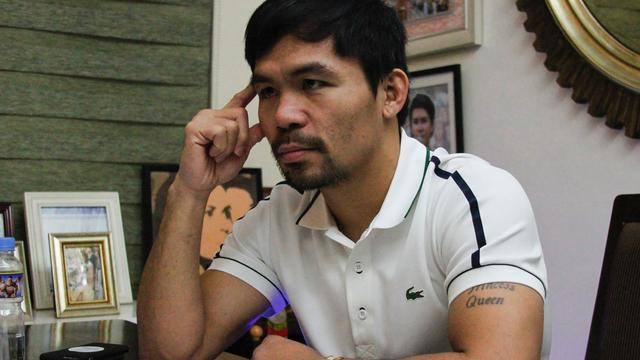 Bokser Pacquiao maakt op 5 november rentree in de ring