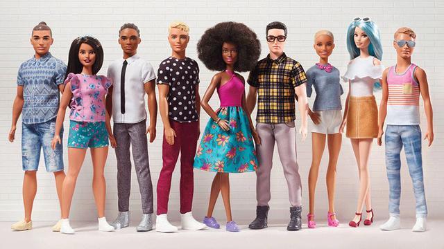 Ken van Barbie krijgt verschillende huidskleuren en forsere omvang