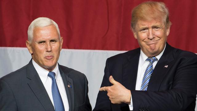 Running mate Mike Pence distantieert zich van uitspraken Donald Trump
