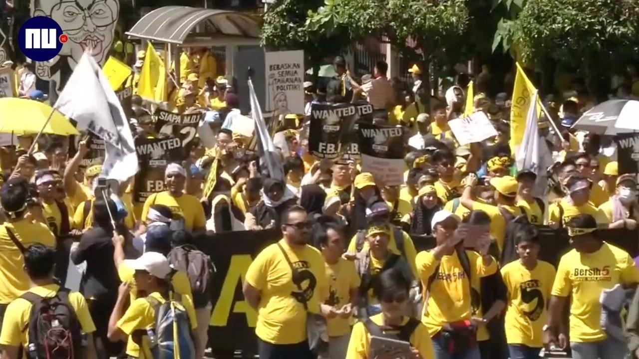 Inwoners Maleisië protesteren massaal tegen regering