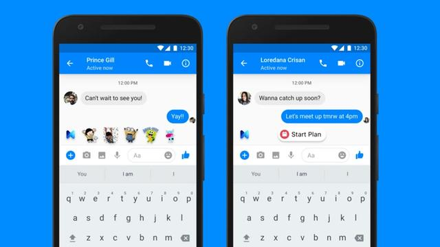 Digitale assistent Facebook Messenger doet suggesties op basis van context