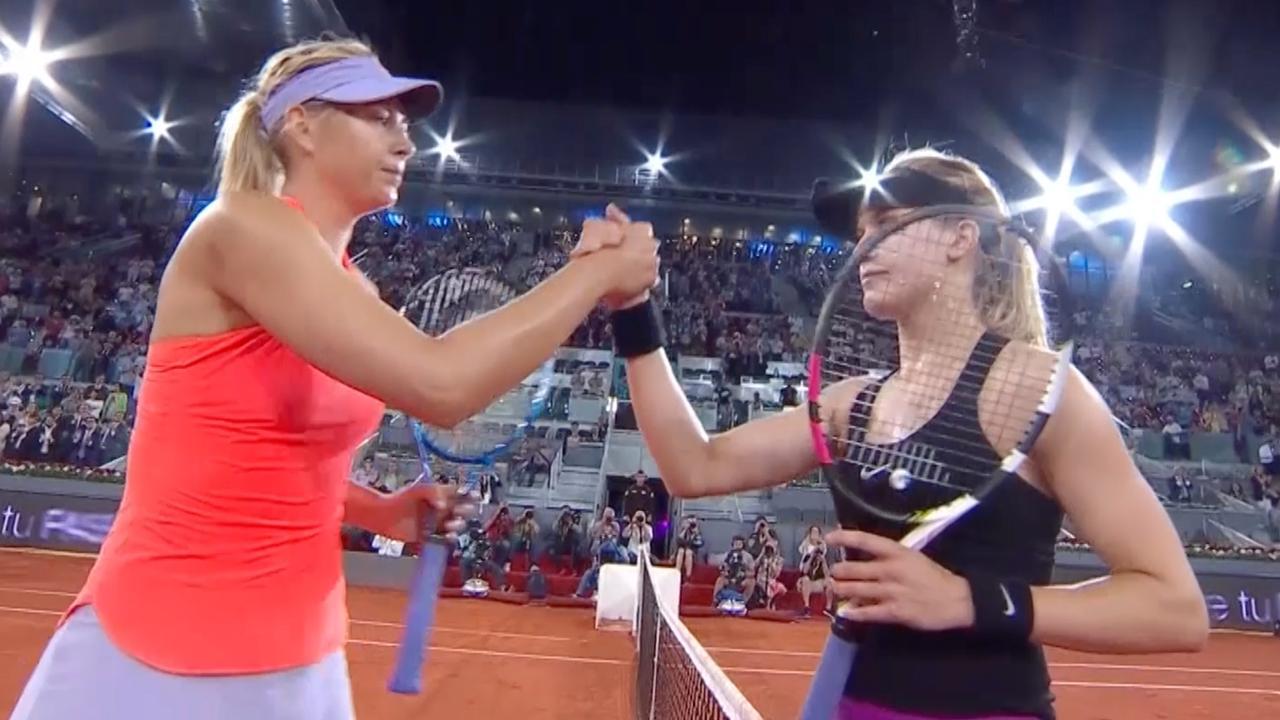 Samenvatting: Bouchard wint in drie sets van Sharapova op WTA Madrid