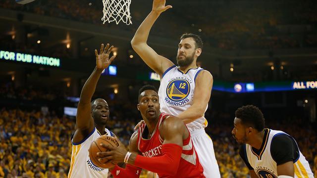 Warriors opnieuw langs Rockets zonder geblesseerde Curry