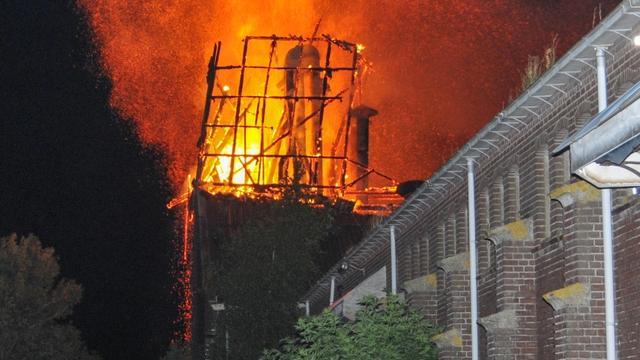 Zoutopslag Middelburg deels afgebrand